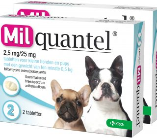 Milquantel 2,5 Mg/25 Mg Puppy/Kleine Hond 2 Tabl.
