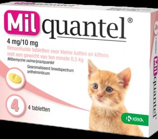 Milquantel 4mg/10mg Kitten/Kat Klein 4 Tabl. 0,5-2kg